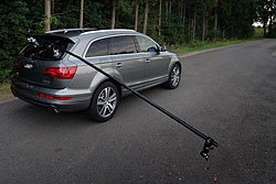 My boom in place on one of the cars used in this tutorial